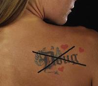 This is not an effective way to hide an unwanted tattoo!