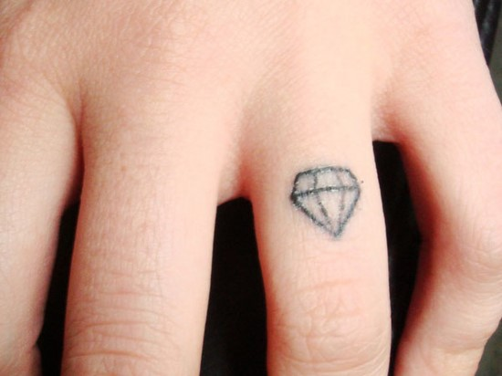 diamond ring tattoo